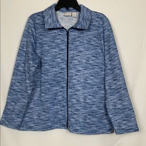 Weekends by Chico's size 2 blue jacket